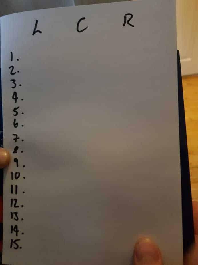 1. Stairs Checklist