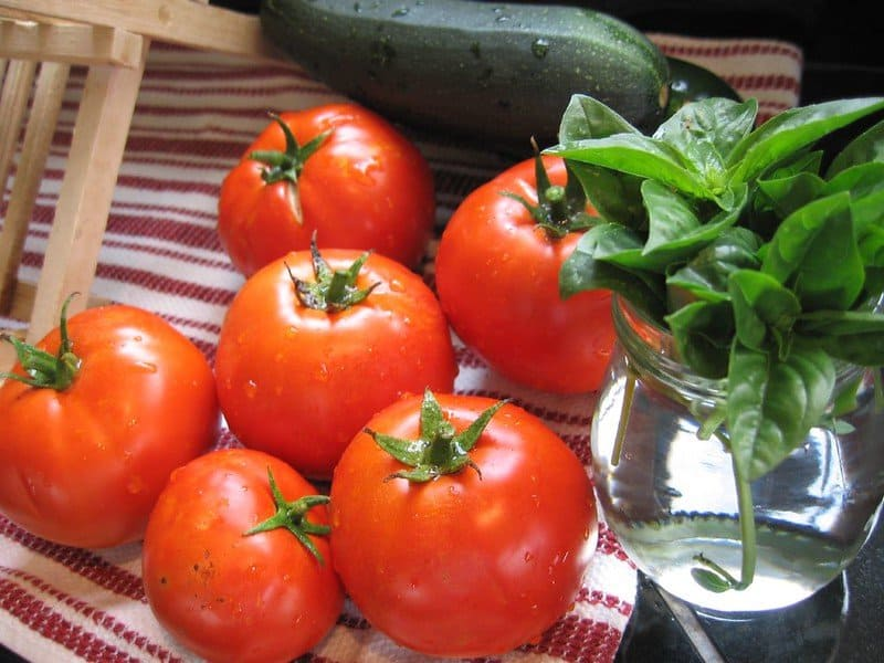 2 Tomatoes and Basil