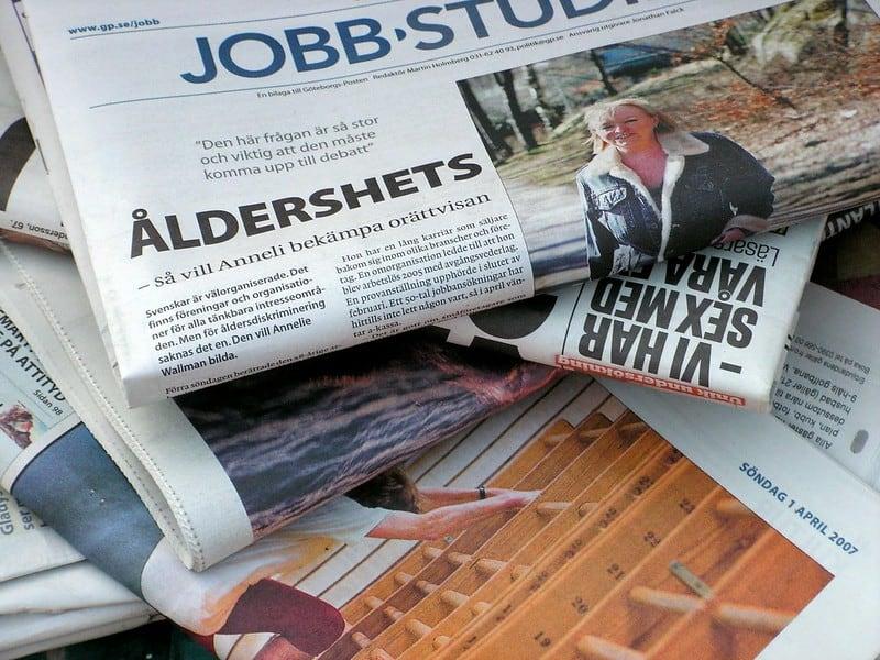 2 Newspaper Pile