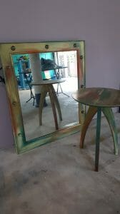 How To Make a Stunning DIY Vanity Mirror with Lights and Side Table