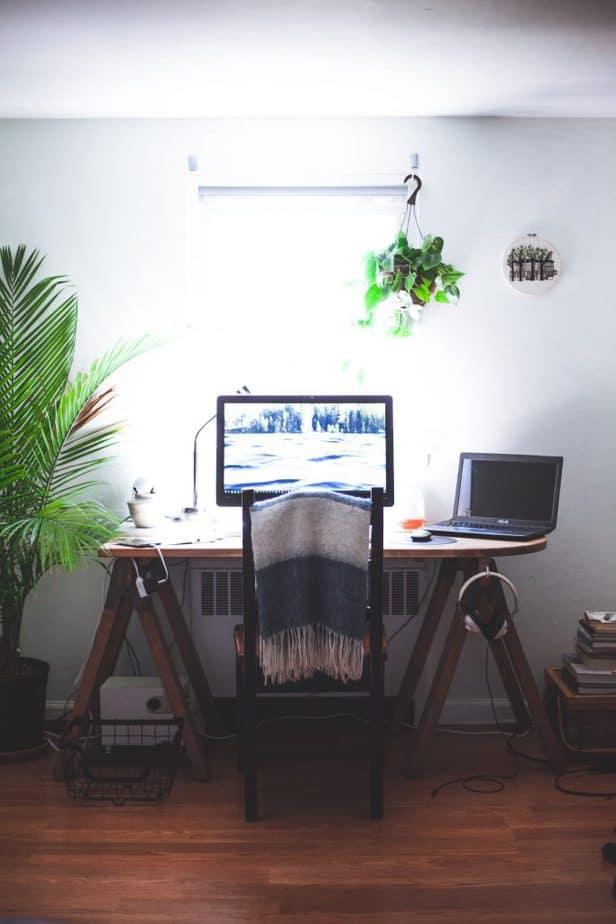 2. Sawhorse Desk