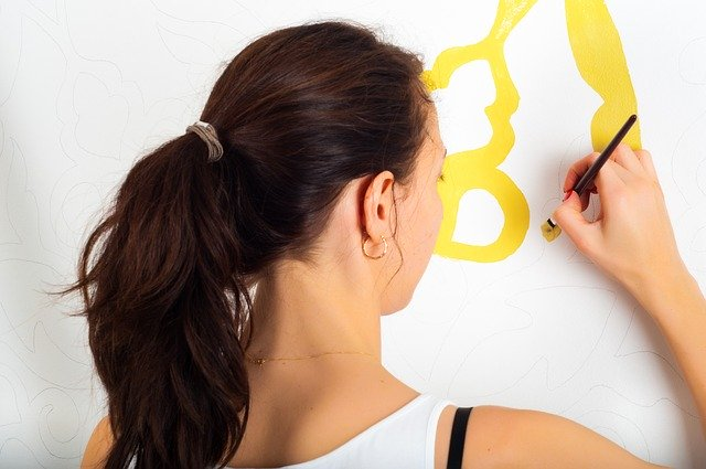 3. Woman painting