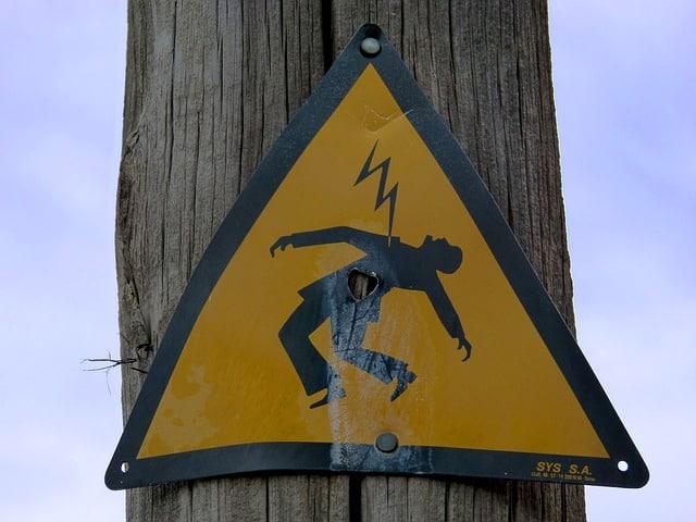 18 danger shock warning
