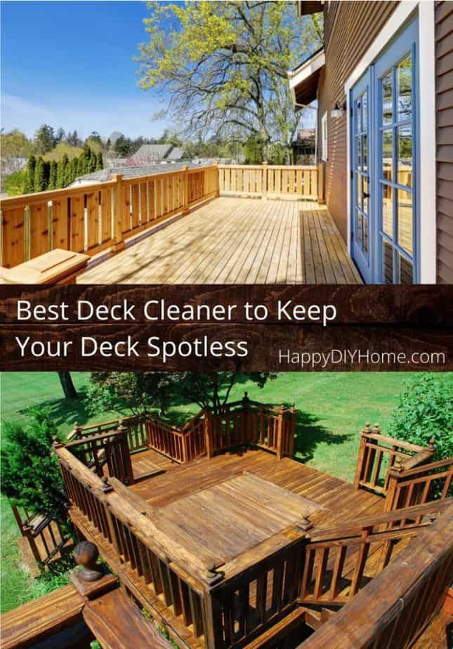 Best Deck Cleaner to Keep Your Deck Spotless Cover