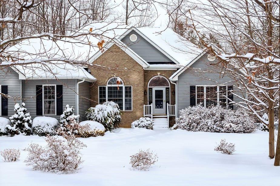 9 snowy house