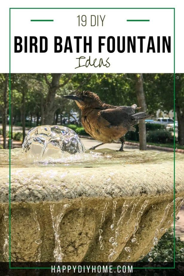 19 DIY Bird Bath Fountain Ideas 1