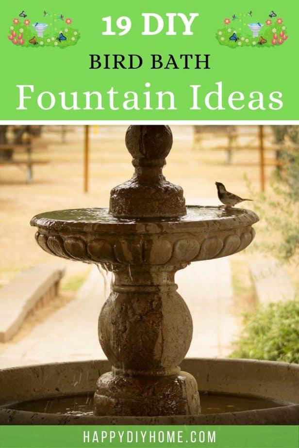 19 DIY Bird Bath Fountain Ideas 2