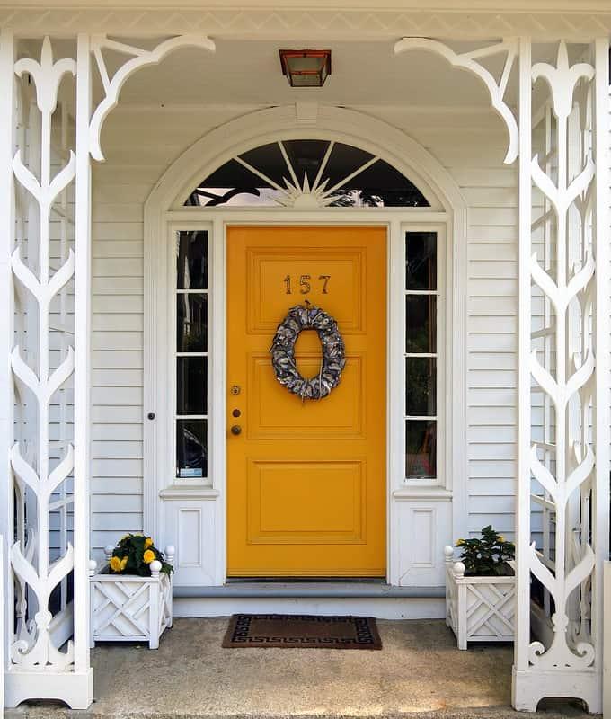 22 Bright Yellow Door
