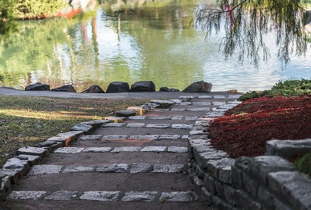 41 Wider Pavers and Walkways by Ponds