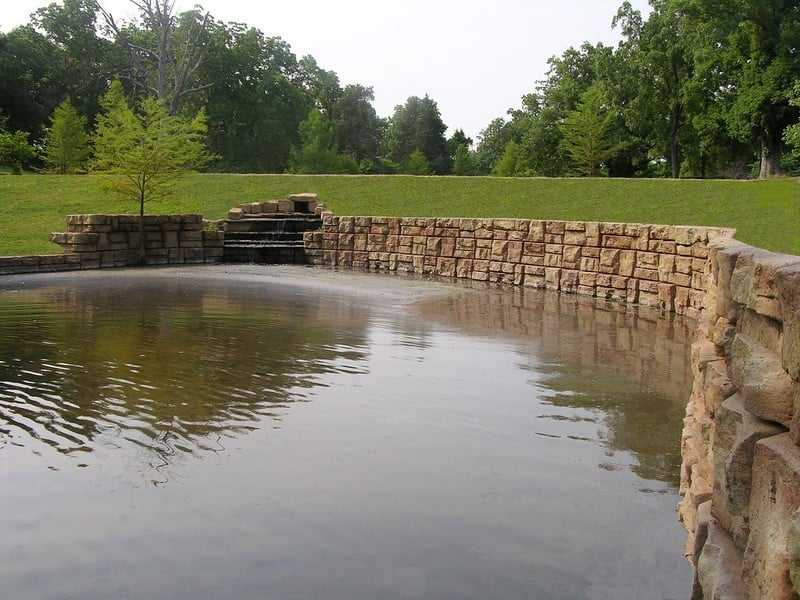 44 Pond with Rock Wall