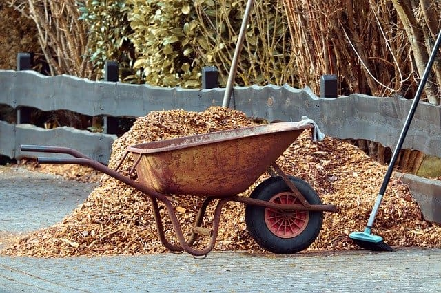 8 Mulch in Wheelbarrow