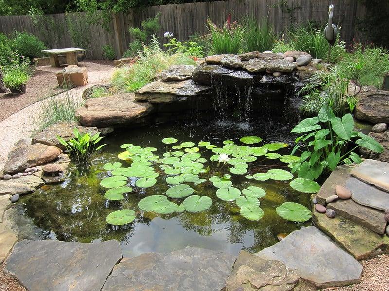 82 Pond with Stonework Border