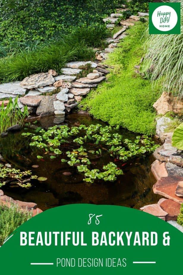 85 Backyard and Pond Designs 2
