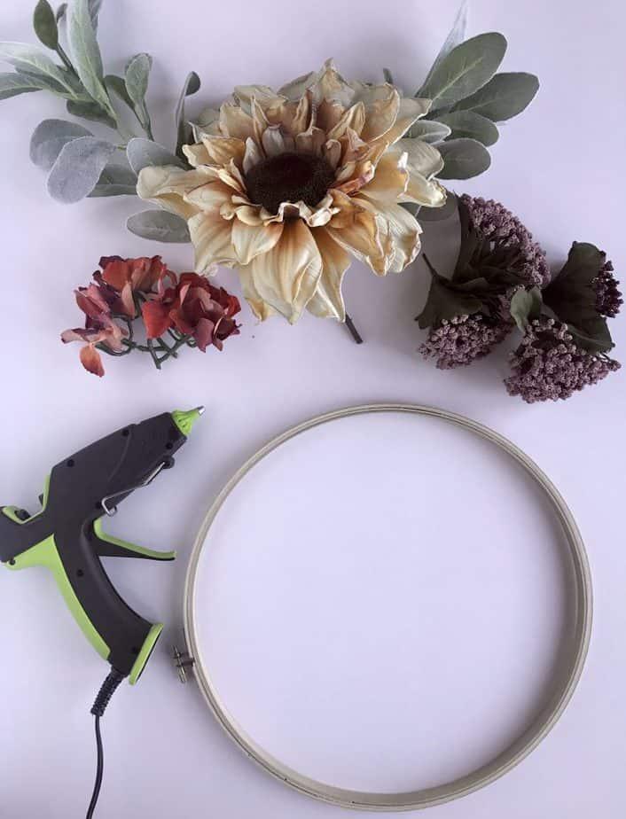 fall wreath materials 3