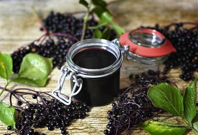 5 Elderberries and Juice