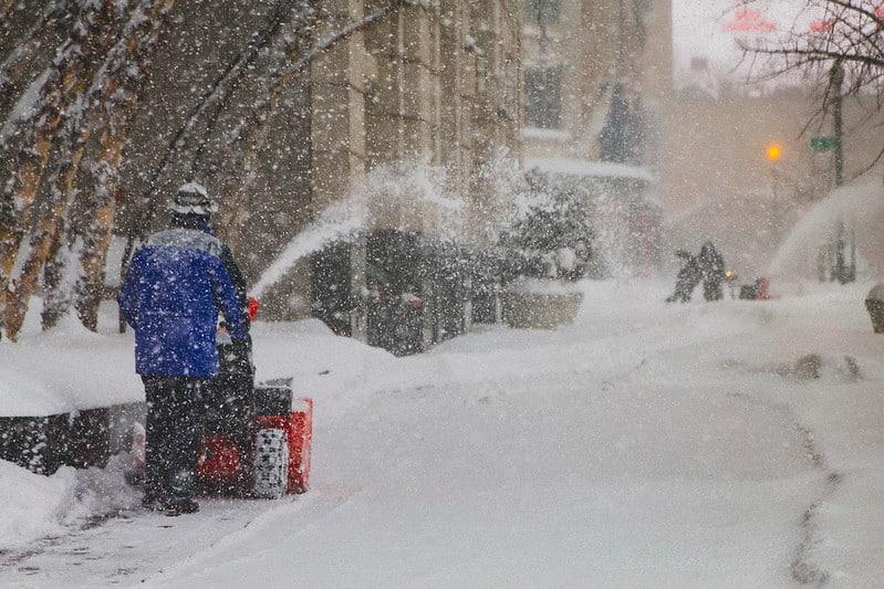 2 Snowblowing a Sidewalk