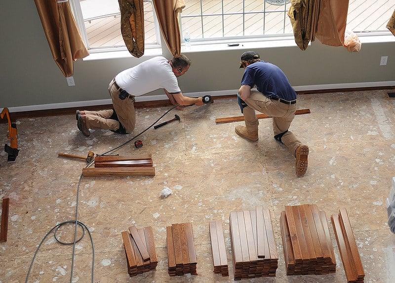 2 floor labor install