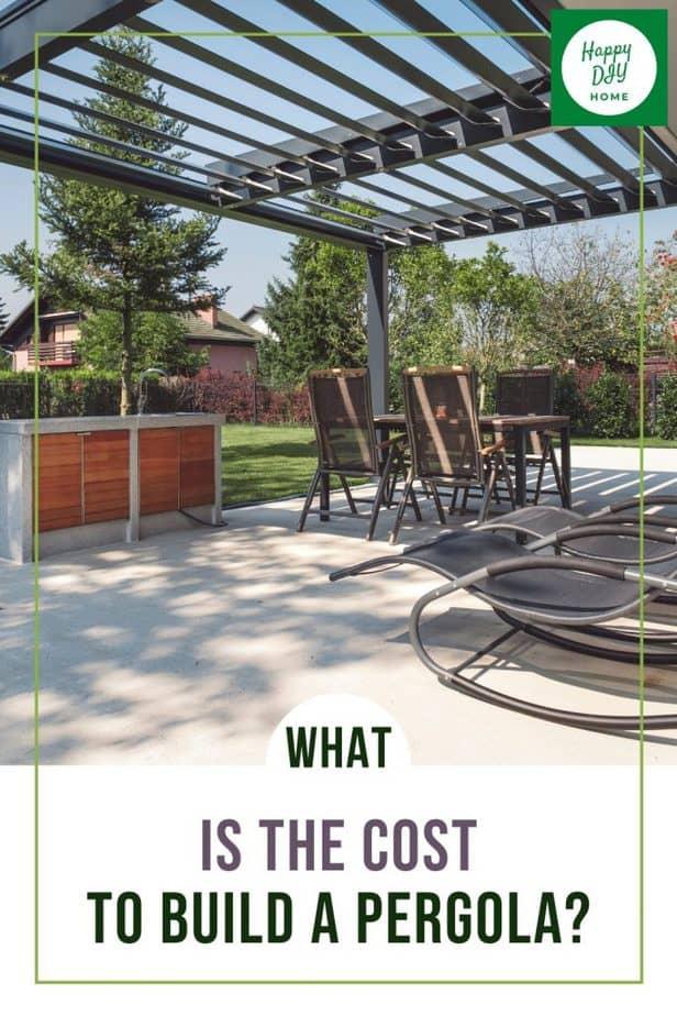 Cost to Build a Pergola 1