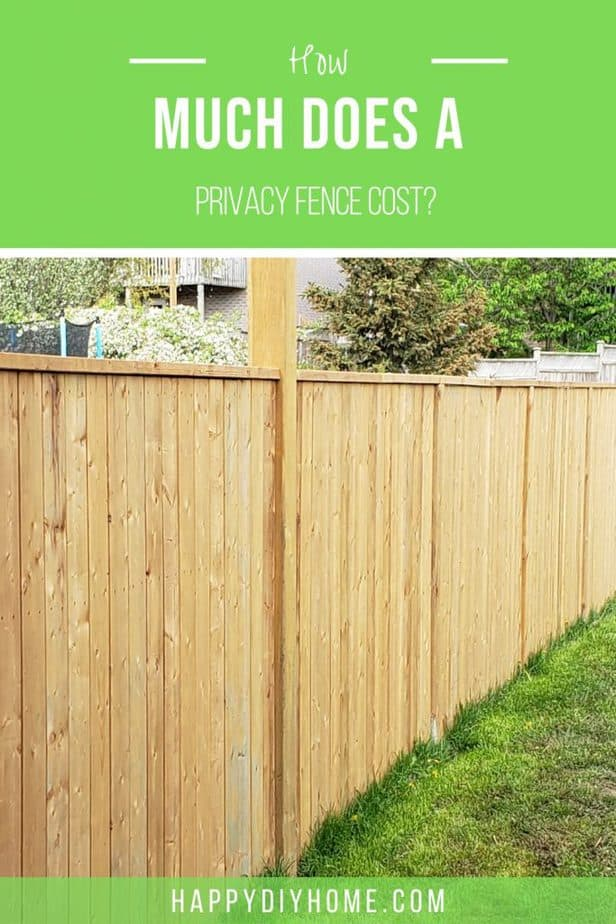 Privacy Fence Cost 1