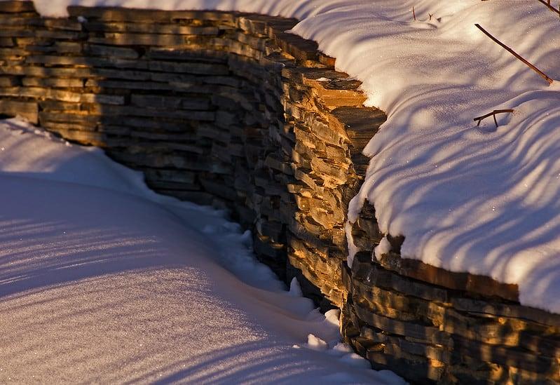 1 Snowy Retaining Wall