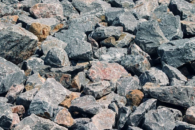15. Rip rap shown is an ideal rock to use for a dry creek bed