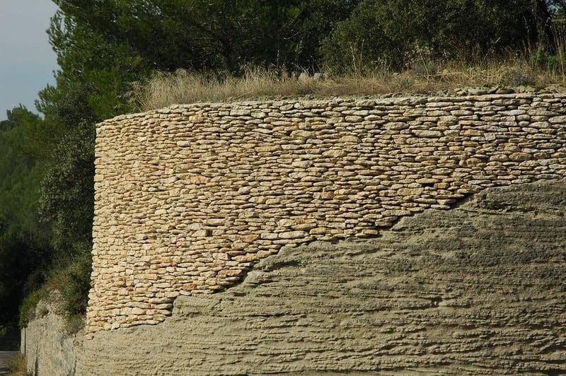 2 Large Stone Retaining Wall