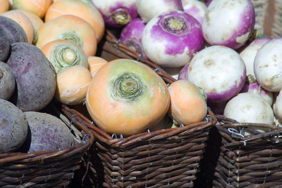 2 Turnips in Baskets