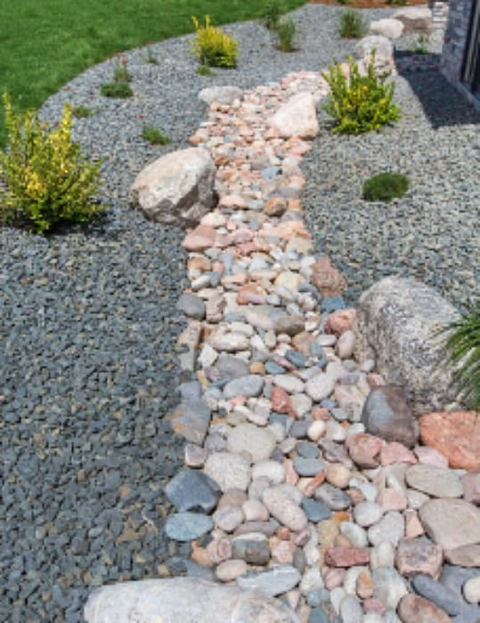 5. This is a more naturalistic dry creek using small and medium