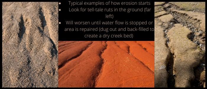 7. How erosion starts and progresses