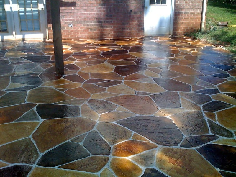 3 Colorful Stone Stamped Concrete