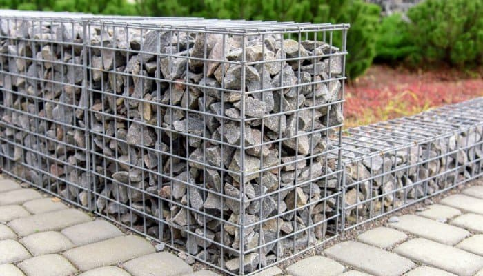 5. The quintessential gabion look. It may appear harsh and austere but they are