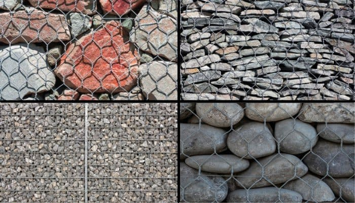 7. Gabion walls are highly customizable. Shown here are just