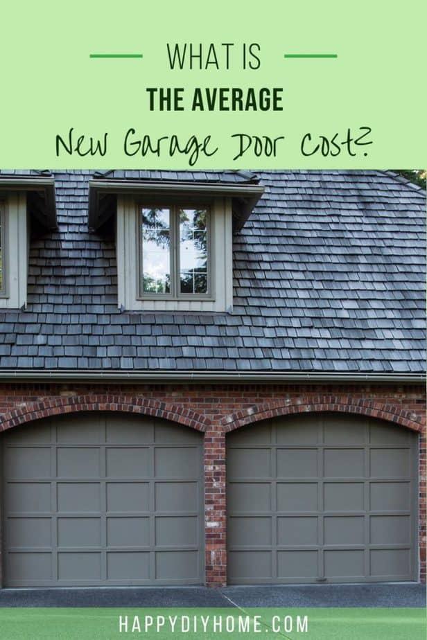 New Garage Door Cost 1