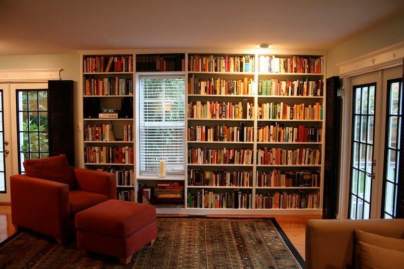 1 New Built In Bookshelves