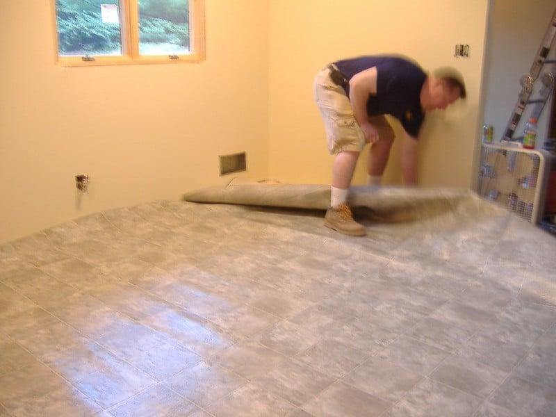 2 Peeling Up Vinyl Flooring