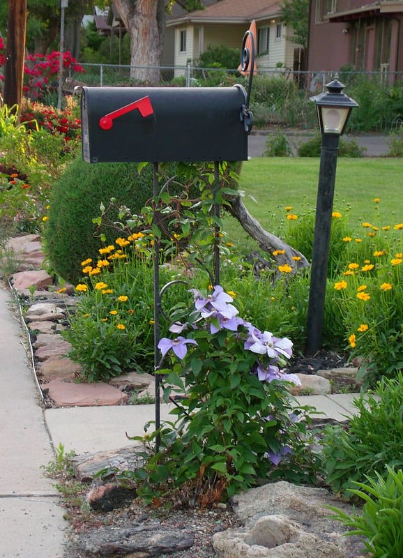 12 Mailbox Rock Garden and Flowers