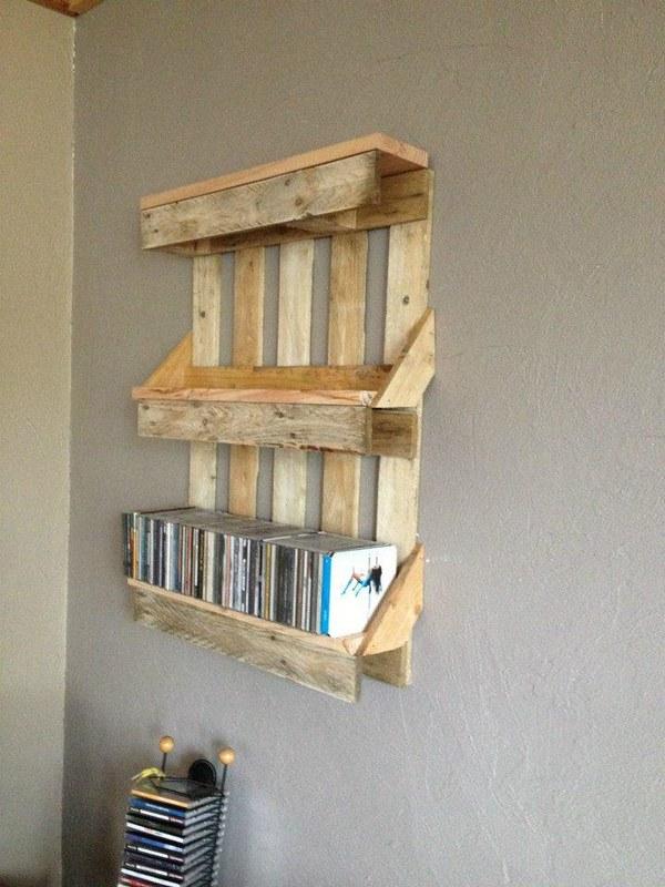 20 Pallet Bookshelves