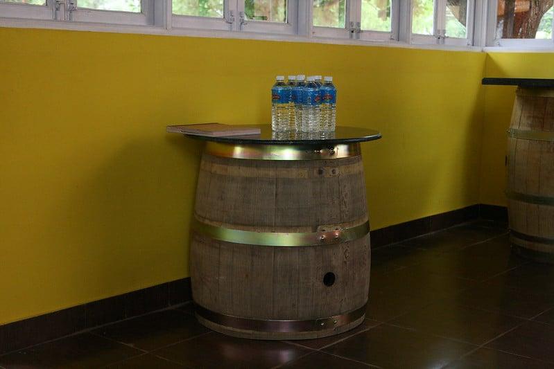 23 Wine Barrel Table