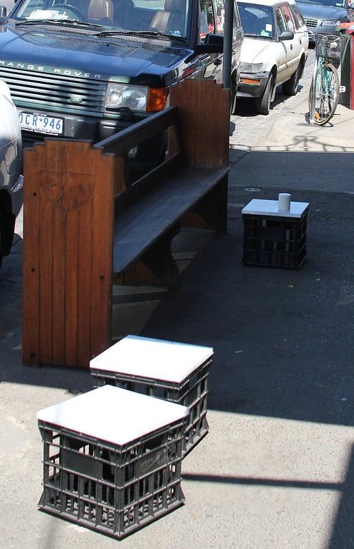 4 Milk Crate Seating