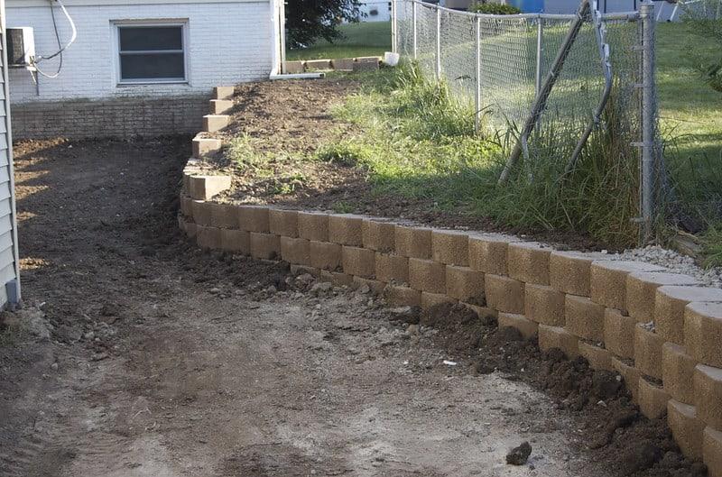 8 Sandstone Retaining Wall