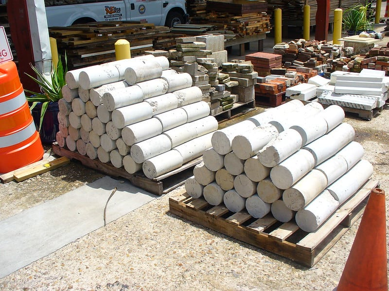 9 Concrete Cylinder Wall