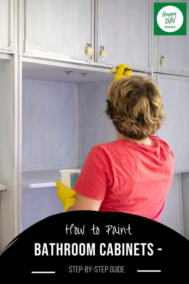 How to Paint Bathroom Cabinets 2