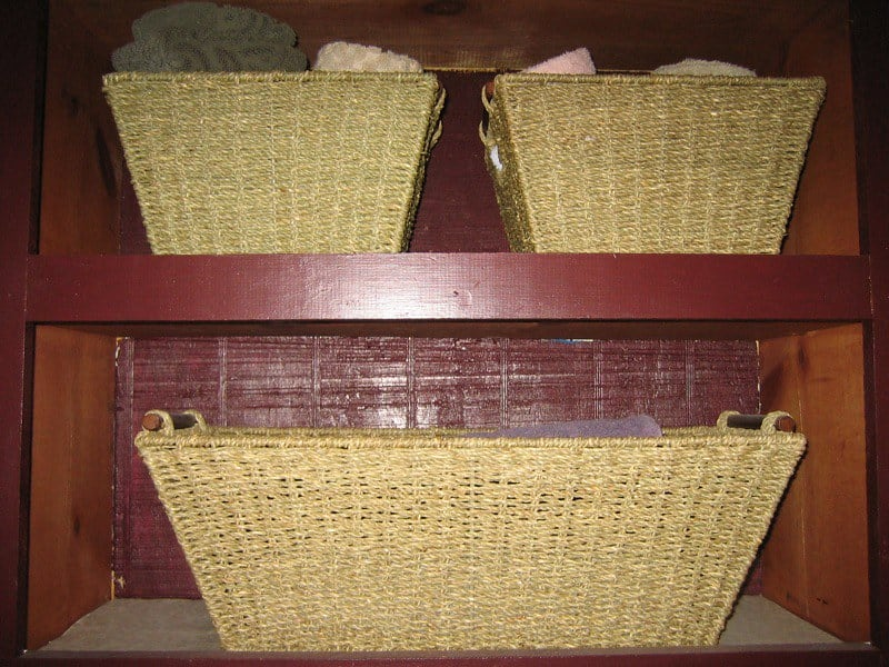 1 Tiered Wicker Basket
