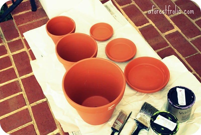 17 Terra Cotta Pot Stack Planter