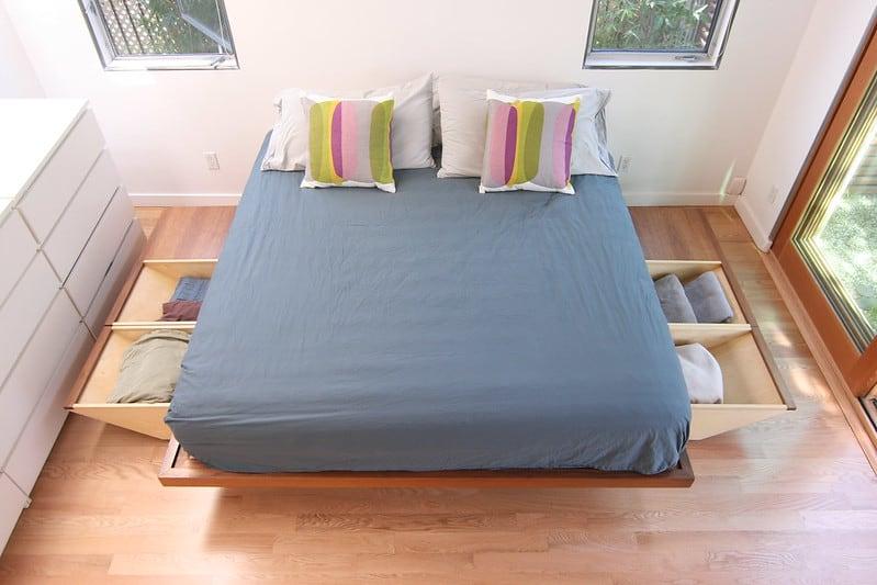 2 Bed Frame Storage