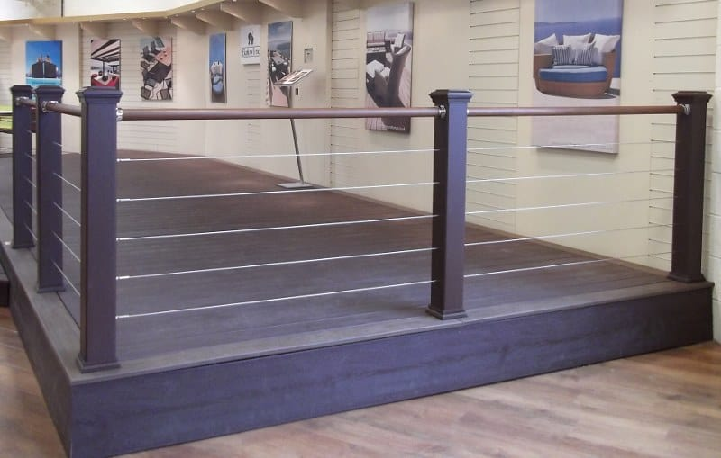 2 Metal and Cable Railing
