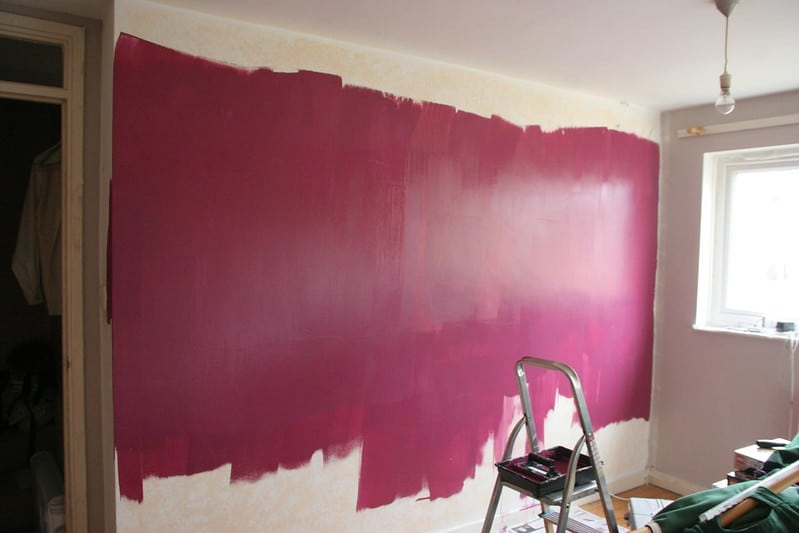 7 Red Accent Wall